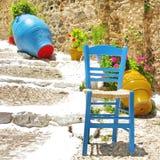 Gamla grekiska gator Fotografering för Bildbyråer