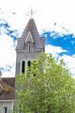 Gamla Grey Bell Tower Arkivfoto