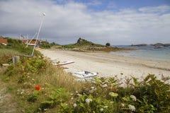 Gamla Grimsby, Tresco, öar av Scilly, England Royaltyfri Foto