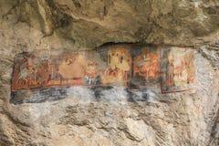 Gamla grottaväggmålningar, Bulgarien royaltyfri foto