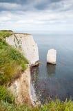 Gamla Harry Rocks, Dorset, Förenade kungariket Arkivfoto