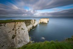 Gamla Harry Rocks, Jurassic kust, Dorset, England arkivfoto
