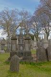 Gamla historiska allvarliga gravvalv i den Glasnevin kyrkog?rden, Dublin royaltyfria foton