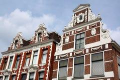 Gamla historiska fasader Fotografering för Bildbyråer