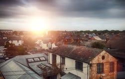 Gamla hus av Dublin Arkivfoto