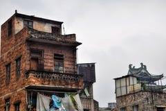 Gamla hus av kantonen, metropole av Guangdong, Kina Fotografering för Bildbyråer