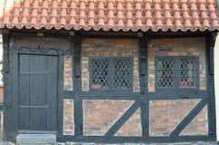 Gamla hus i Danmark Royaltyfri Foto
