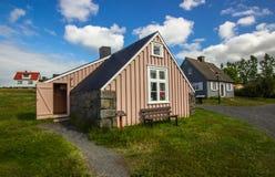 Gamla hus i Island Royaltyfri Fotografi