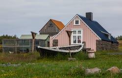 Gamla hus i Island Royaltyfria Foton