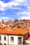 Gamla hus i Porto, Portugal Arkivfoto