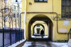 Gamla hus och borggårdar Royaltyfri Bild