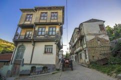 Gamla hus och gator i Tirilye fotografering för bildbyråer