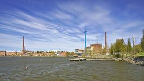 Gamla industribyggnader Arkivfoto