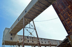Gamla industriella broar Arkivbilder