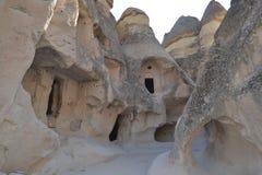 Gamla infallhus i Cappadocia Royaltyfri Bild