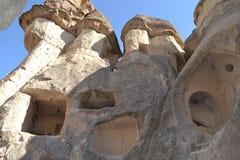 Gamla infallhus i Cappadocia Arkivfoton