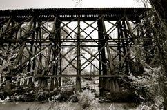 Gamla järnvägbroar och bockar Royaltyfria Foton