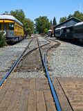 Gamla järnvägspår Arkivbilder