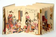 Gamla japanska målningar Royaltyfri Bild