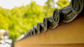 Gamla japanträdgårdväggar Royaltyfri Bild