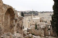 Gamla Jerusalem fördärvar - Israel Fotografering för Bildbyråer