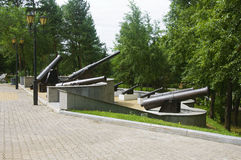 Gamla kanoner Royaltyfria Foton