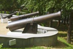 Gamla kanoner Arkivbilder