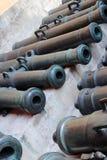 Gamla kanoner i MoskvaKreml Lokal för Unesco-världsarv Arkivbild