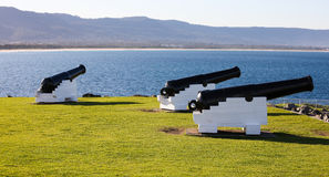 Gamla kanoner, Wollongong, Australien Arkivfoton