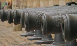 Gamla kanonvapen Fotografering för Bildbyråer