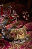 Gamla karnevalmaskeringar Arkivbilder