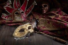 Gamla karnevalmaskeringar Fotografering för Bildbyråer