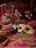 Gamla karnevalmaskeringar Royaltyfri Bild