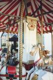 Gamla karusellhästar Royaltyfria Foton