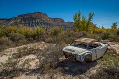 Gamla klassiska bilar och lastbilar Royaltyfria Bilder