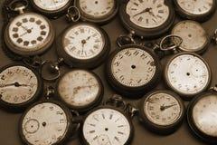 Gamla klockor Fotografering för Bildbyråer