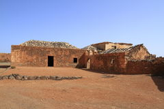 Gamla koloniala byggnader Casa de los Coroneles i La Oliva, Fuerte Royaltyfri Fotografi