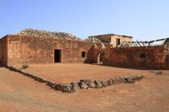 Gamla koloniala byggnader Casa de los Coroneles i La Oliva, Fuerte Arkivbild