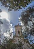 Gamla kyrkliga Birkirkara Malta Arkivbild