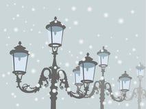 Gamla lampor stock illustrationer