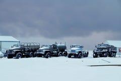 Gamla lastbilar i Island arkivbilder