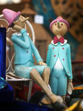 Gamla leksaker i Italien Royaltyfria Foton