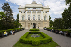 Gamla LibraryAt universitetet av Warszawa, Polen Fotografering för Bildbyråer