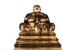 Gamla lyckliga buddha Arkivfoton