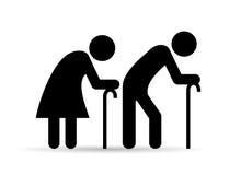 Gamla människor symbol vektor illustrationer