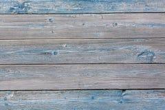 Gamla målade blått färgade wood bakgrund, abstrakt wood bakgrund för design Royaltyfri Bild