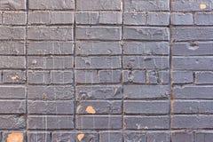 Gamla målade Grey Brick Wall Texture Background royaltyfria bilder