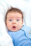 2 gamla månader behandla som ett barn pojken hemma Royaltyfri Bild