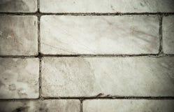 Gamla marmortegelplattor som däckar textur och detaljen Royaltyfri Bild