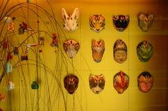 Gamla maskeringar, Kyoto Japan Royaltyfria Bilder
